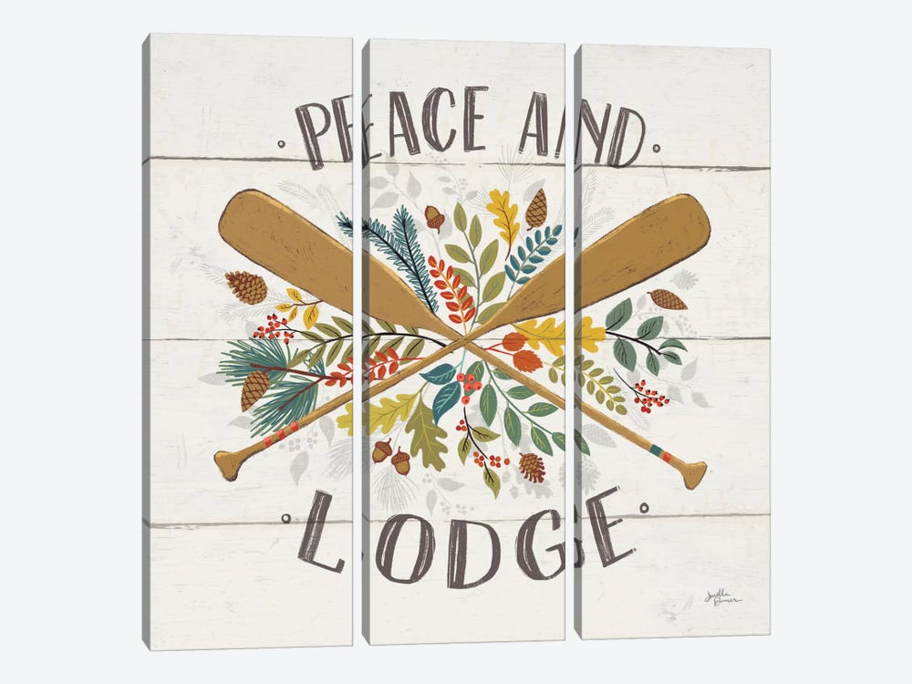 Peace & Lodge IV by Janelle Penner 3-piece Canvas Print
