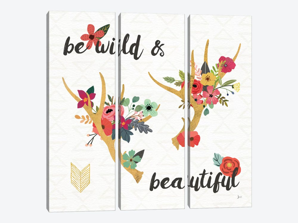 Boho Beauty I by Jess Aiken 3-piece Canvas Wall Art