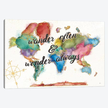 Colorful World I Canvas Print #WAC6076} by Jess Aiken Canvas Wall Art