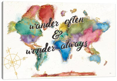 Colorful World I Canvas Art Print