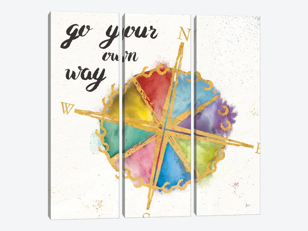 Colorful World II by Jess Aiken 3-piece Canvas Artwork