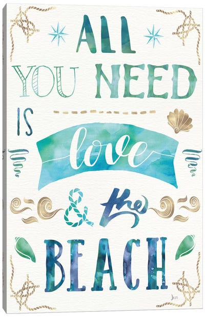 Love And The Beach I Canvas Art Print