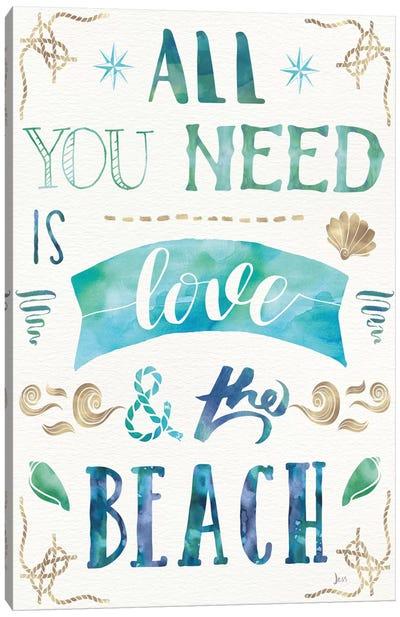 Love And The Beach I Canvas Art Print