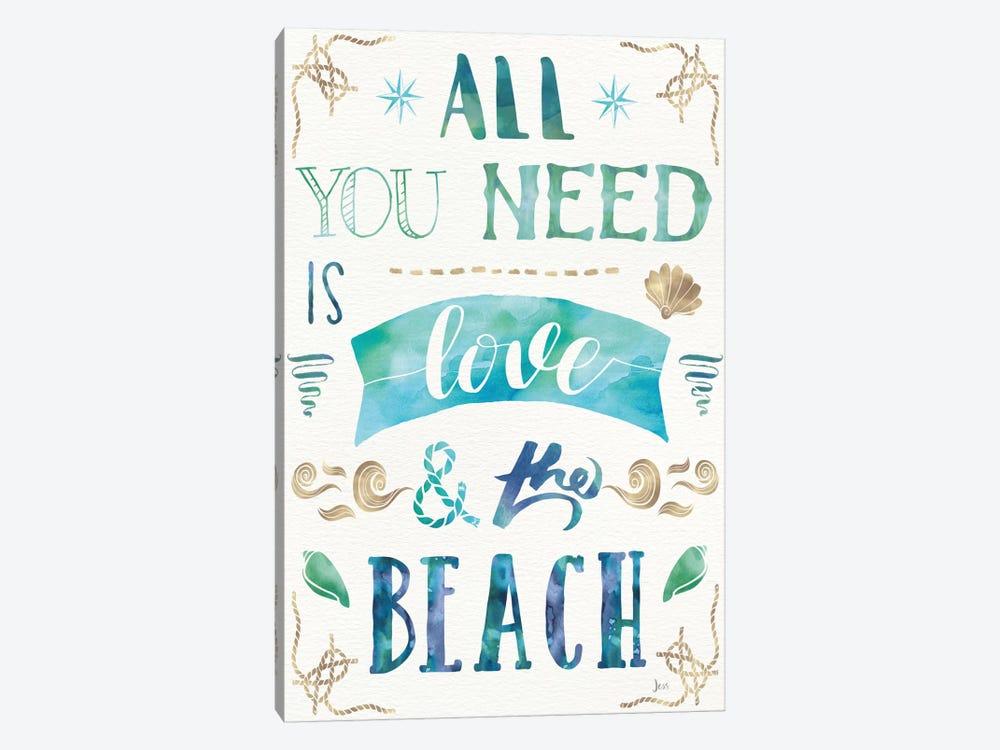 Love And The Beach I by Jess Aiken 1-piece Canvas Art