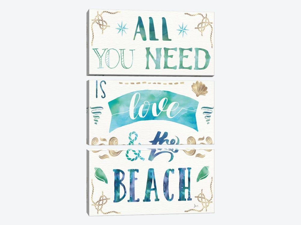Love And The Beach I by Jess Aiken 3-piece Canvas Wall Art