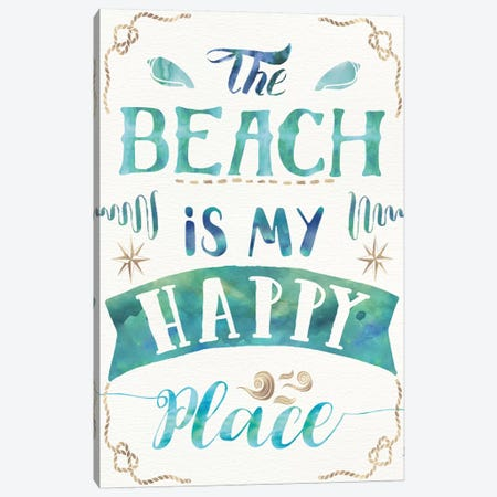 Love And The Beach II Canvas Print #WAC6080} by Jess Aiken Canvas Wall Art