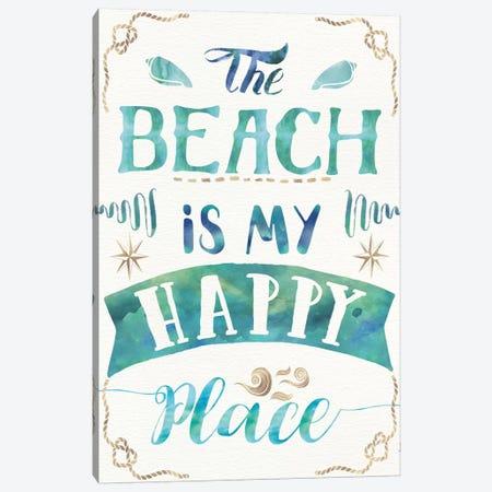 Love And The Beach II Canvas Print #WAC6080} by Jess Aiken Canvas Wall Art