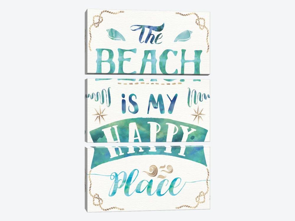 Love And The Beach II by Jess Aiken 3-piece Canvas Art