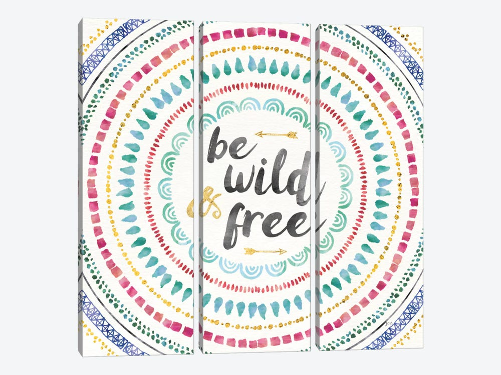 Wild & Free I by Jess Aiken 3-piece Canvas Art Print
