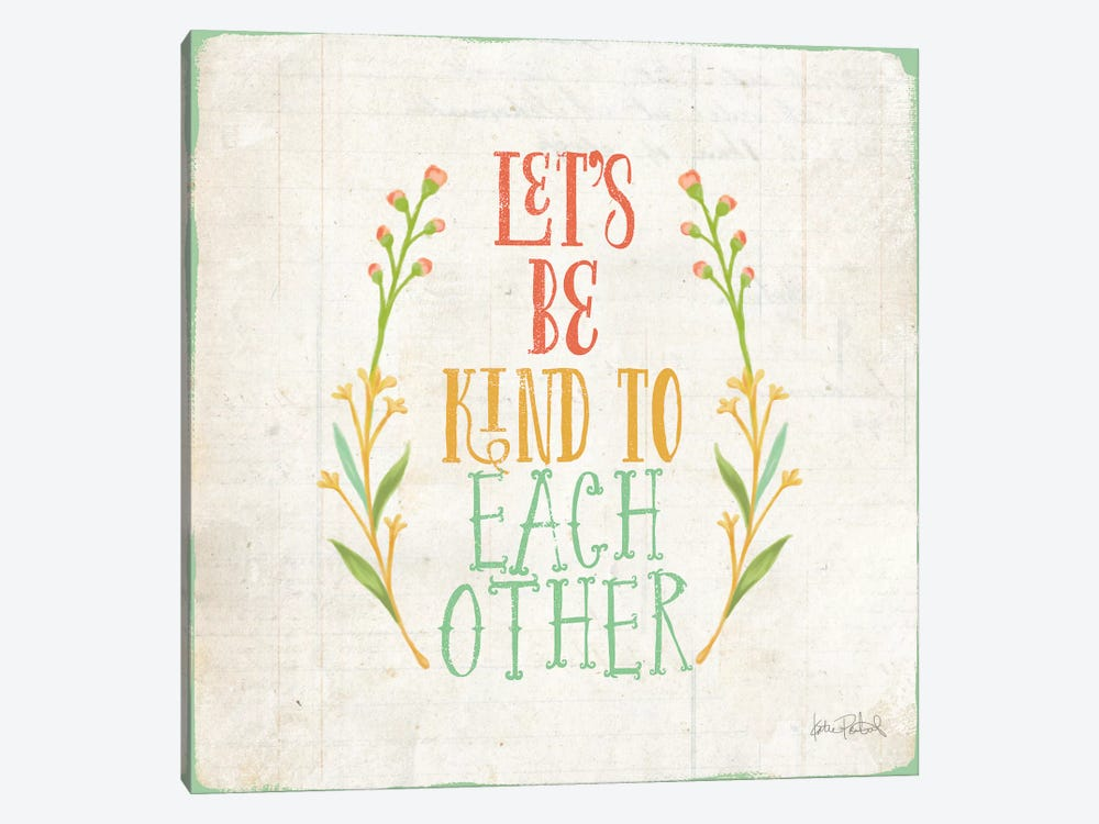 Be Kind I by Katie Pertiet 1-piece Canvas Art