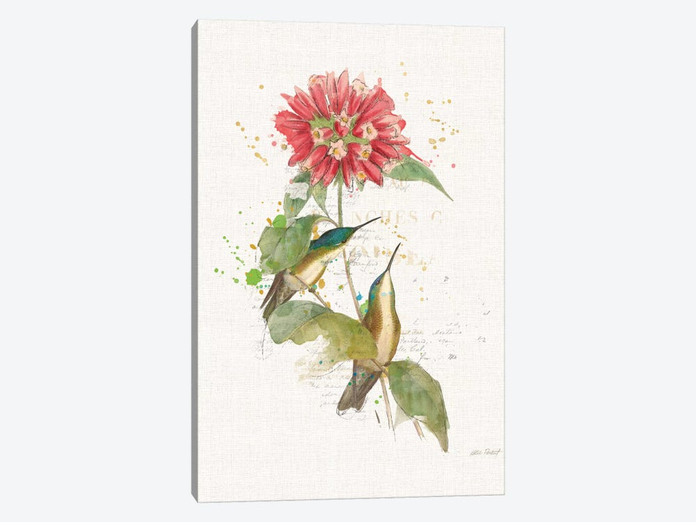 Colorful Hummingbirds I by Katie Pertiet 1-piece Canvas Print