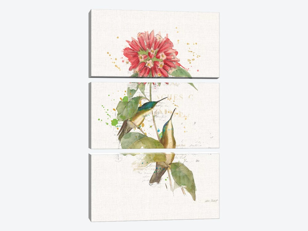 Colorful Hummingbirds I by Katie Pertiet 3-piece Canvas Print