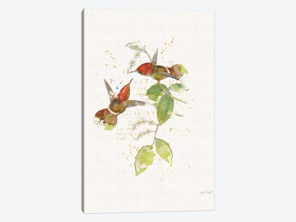 Colorful Hummingbirds II by Katie Pertiet 1-piece Canvas Artwork
