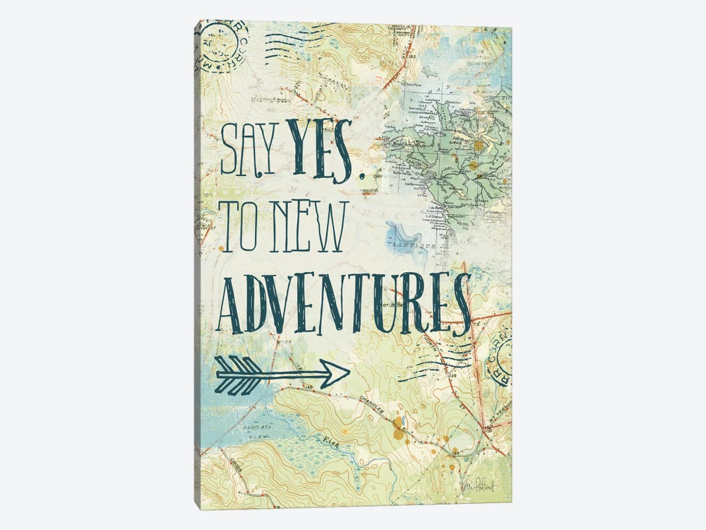Map Sentiments II by Katie Pertiet 1-piece Canvas Artwork