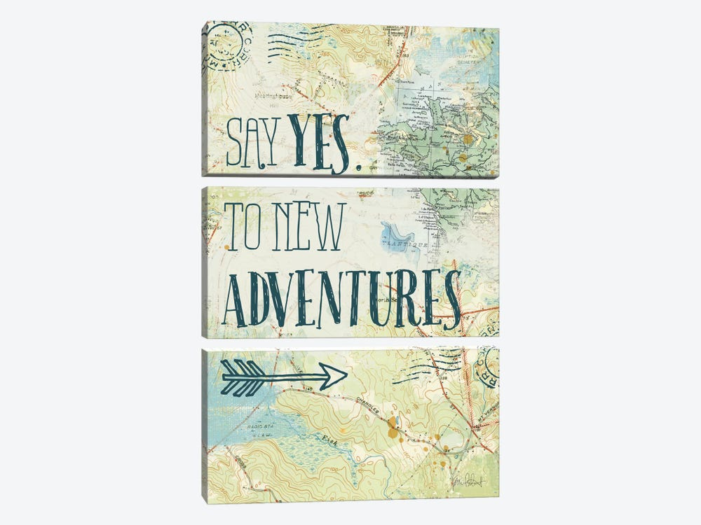 Map Sentiments II by Katie Pertiet 3-piece Canvas Art