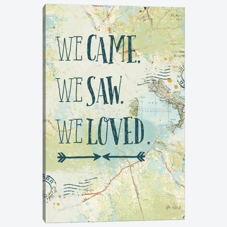 Map Sentiments III Canvas Print #WAC6104} by Katie Pertiet Canvas Wall Art