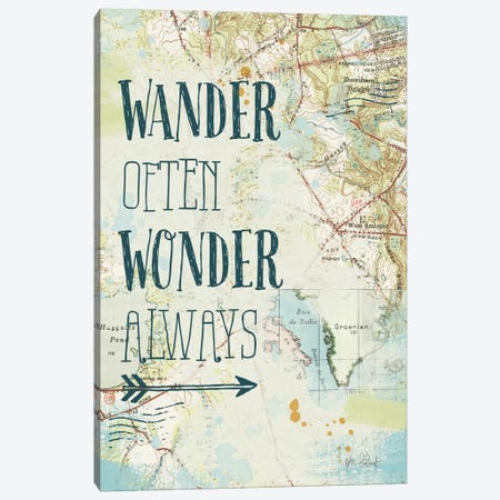 Map Sentiments V Canvas Print #WAC6106} by Katie Pertiet Canvas Art