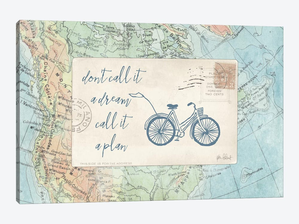Travel Posts I by Katie Pertiet 1-piece Canvas Wall Art