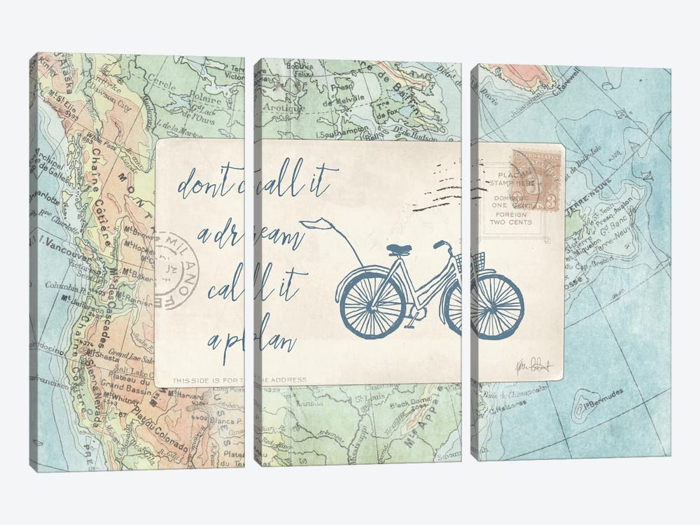 Travel Posts I by Katie Pertiet 3-piece Canvas Artwork