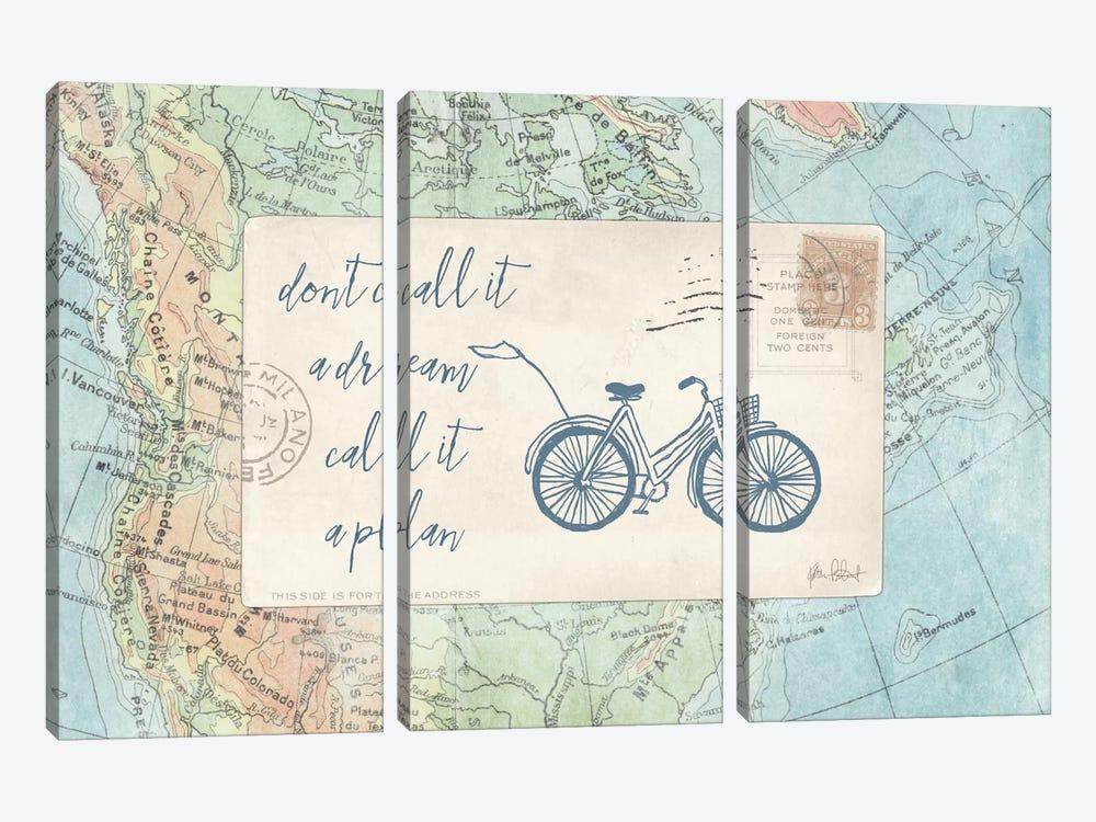 Travel Posts I by Katie Pertiet 3-piece Canvas Artwork