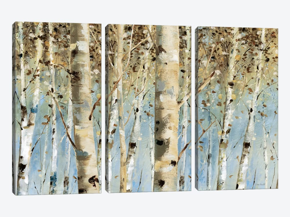 White Forest I by Lisa Audit 3-piece Canvas Print
