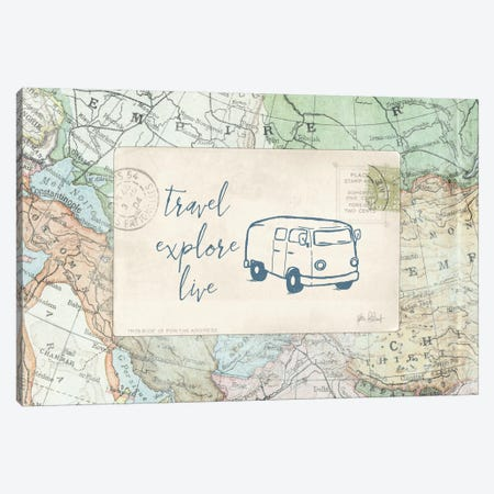 Travel Posts II Canvas Print #WAC6110} by Katie Pertiet Canvas Art