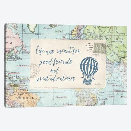 Travel Posts III Canvas Print #WAC6111} by Katie Pertiet Canvas Artwork
