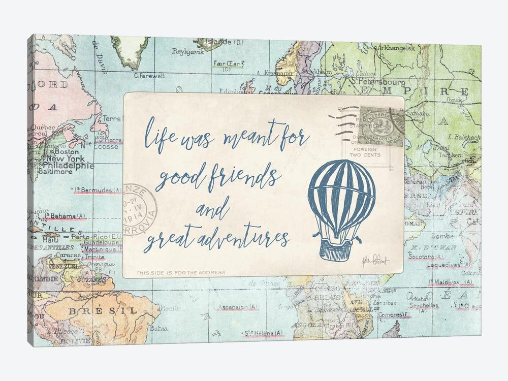 Travel Posts III by Katie Pertiet 1-piece Canvas Print