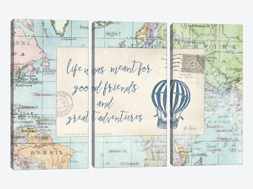 Travel Posts III by Katie Pertiet 3-piece Art Print