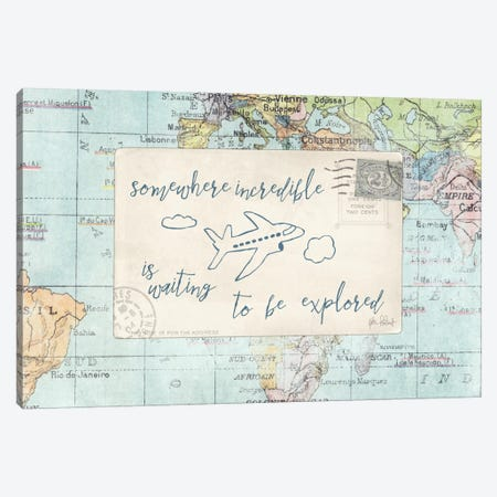 Travel Posts IV Canvas Print #WAC6112} by Katie Pertiet Canvas Artwork