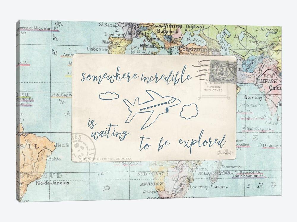 Travel Posts IV by Katie Pertiet 1-piece Canvas Art