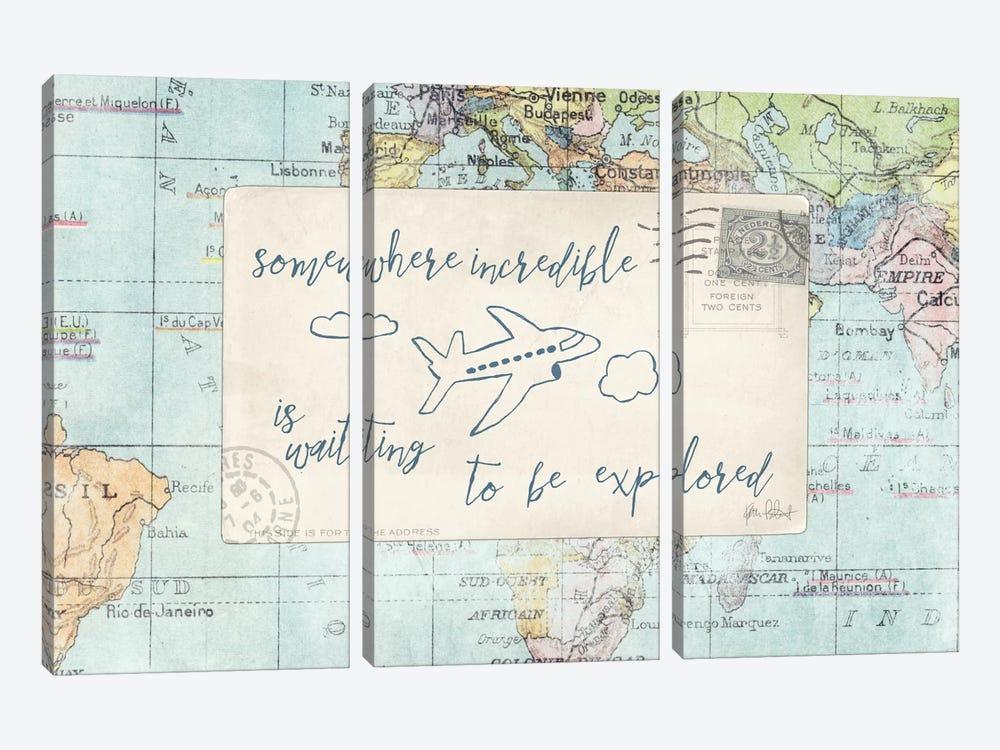 Travel Posts IV by Katie Pertiet 3-piece Canvas Artwork
