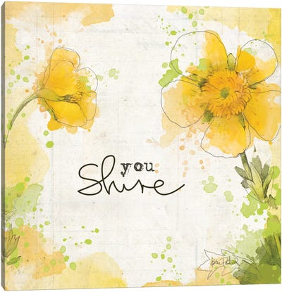 You Shine I Canvas Art Print