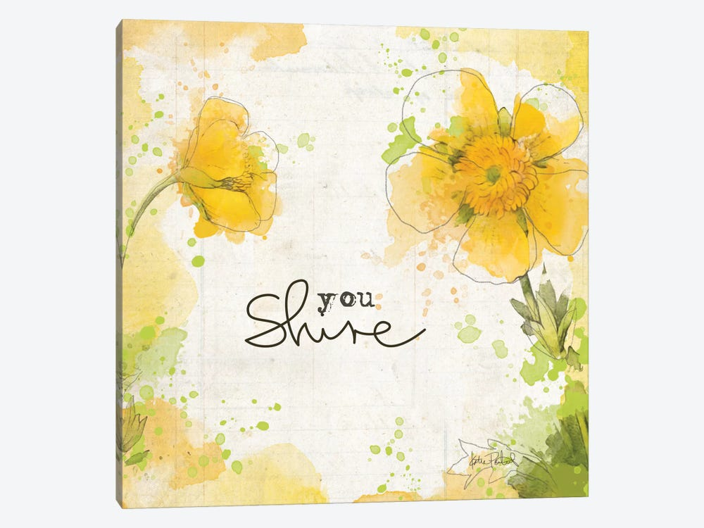 You Shine I by Katie Pertiet 1-piece Canvas Art Print