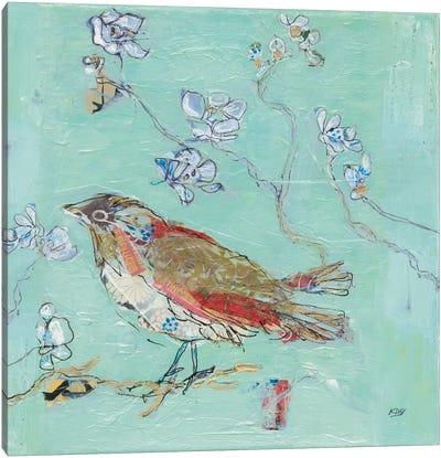 Aqua Bird Canvas Art Print