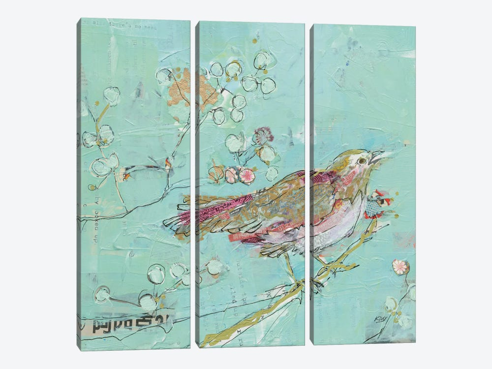 Birds Of A Feather by Kellie Day 3-piece Canvas Art