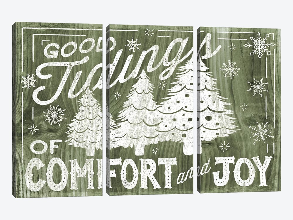 Rustic Holiday III by Laura Marshall 3-piece Art Print