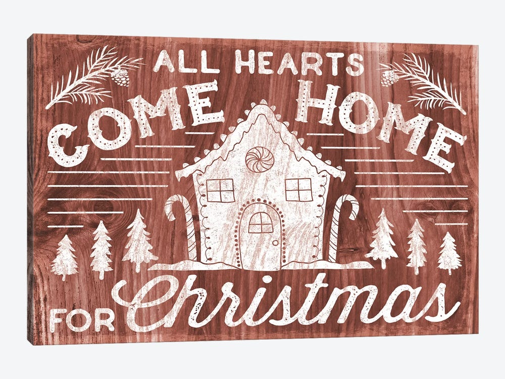 Rustic Holiday IV by Laura Marshall 1-piece Canvas Art Print