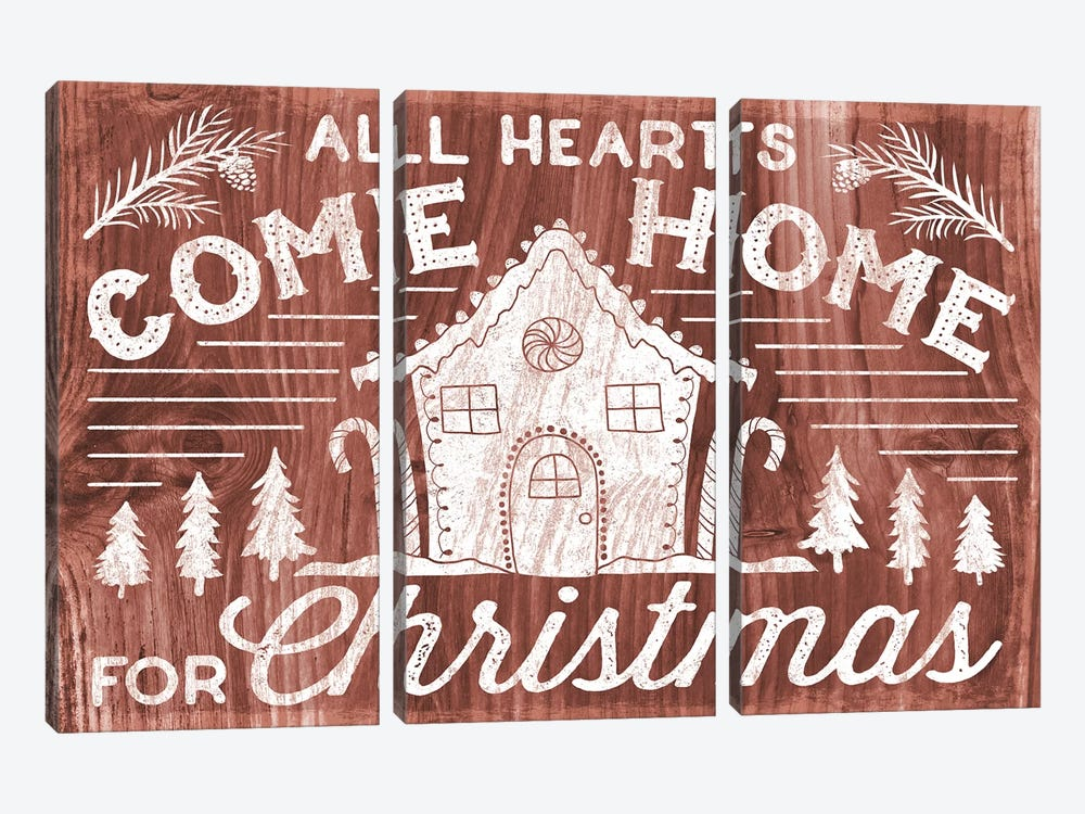 Rustic Holiday IV by Laura Marshall 3-piece Canvas Art Print
