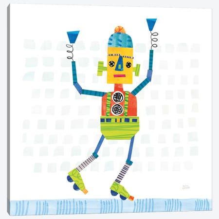 Robot Party I Canvas Print #WAC6141} by Melissa Averinos Art Print