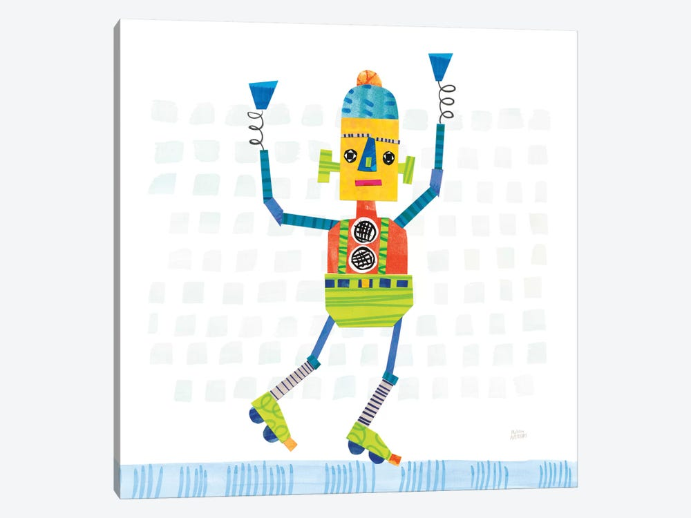 Robot Party I by Melissa Averinos 1-piece Canvas Wall Art