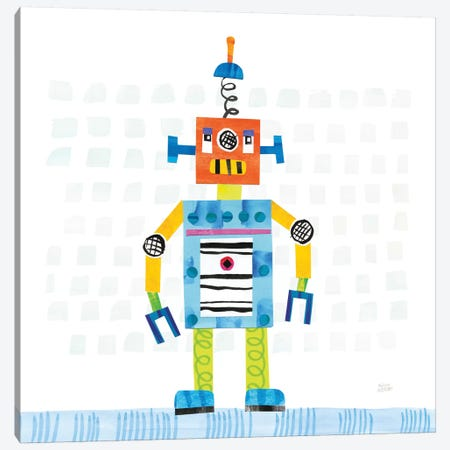 Robot Party II Canvas Print #WAC6142} by Melissa Averinos Canvas Print