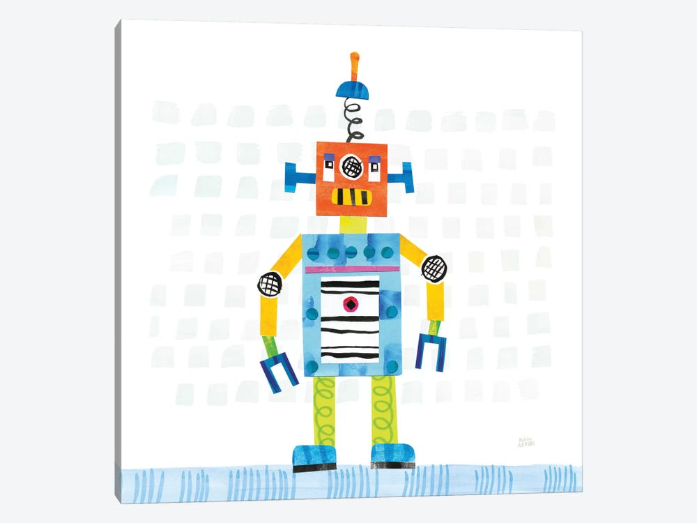 Robot Party II by Melissa Averinos 1-piece Canvas Print