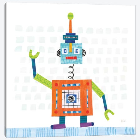 Robot Party III Canvas Print #WAC6143} by Melissa Averinos Canvas Print