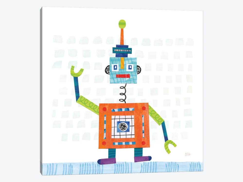 Robot Party III by Melissa Averinos 1-piece Canvas Art