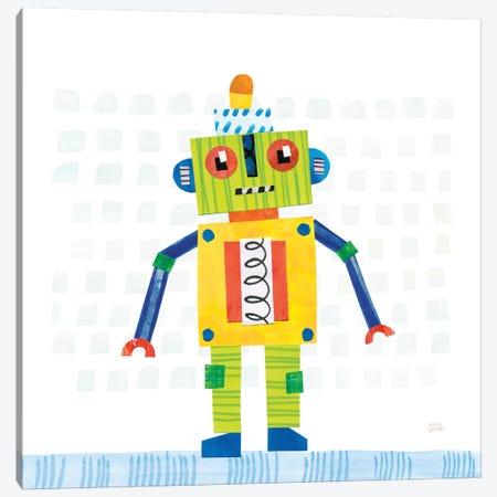 Robot Party IV Canvas Print #WAC6144} by Melissa Averinos Canvas Wall Art