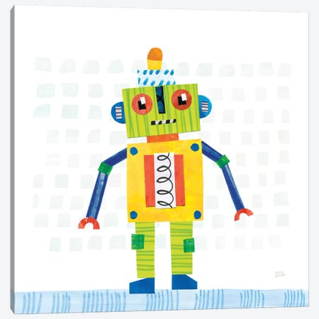 Robot Party IV Canvas Print #WAC6144} by Melissa Averinos Canvas Wall Art