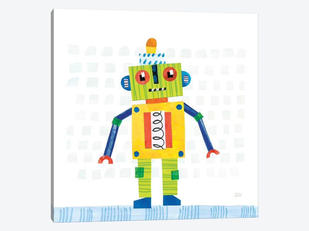 Robot Party IV by Melissa Averinos 1-piece Art Print