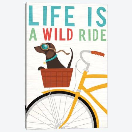 Dachshund Bicycle II Canvas Print #WAC6146} by Michael Mullan Canvas Artwork