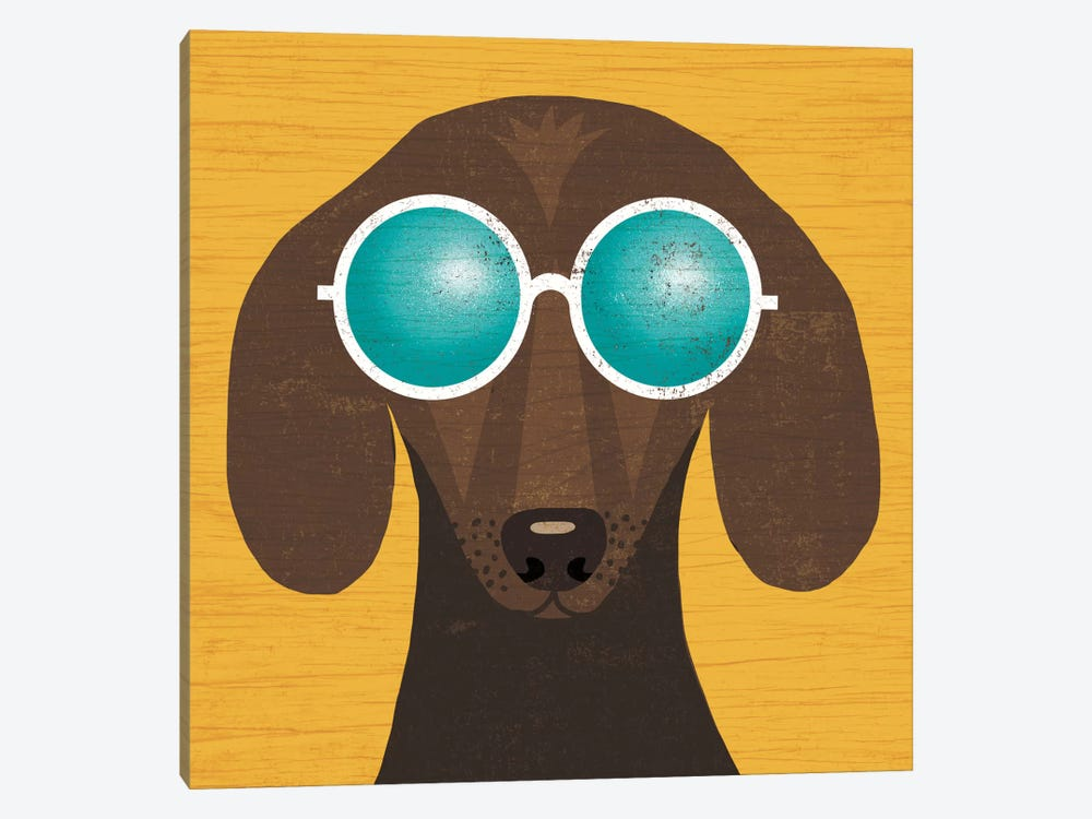 Dachshund I by Michael Mullan 1-piece Canvas Art